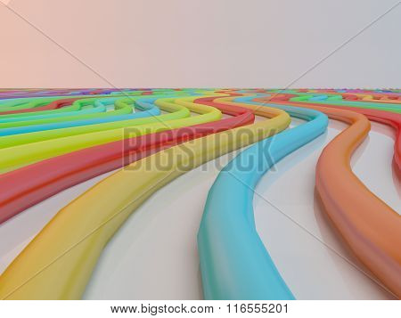 Abstract background line of colour  crayon pencil as rainbow