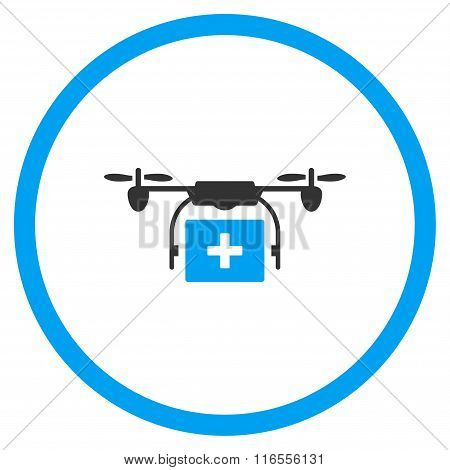 Medical Drone Shipment Rounded Icon