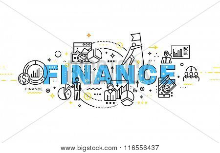 Flat Style, Thin Line Art Design. Set of application development, web site coding, information and mobile technologies vector icons and elements. Modern concept vectors collection. Finance Concept
