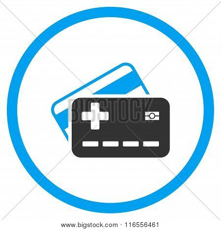 Medical Insurance Cards Rounded Icon
