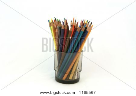 Color Pencils In A Glass