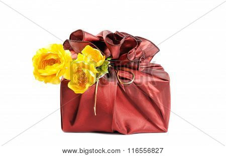 Gift with  flowers