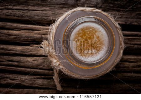 Natural diy sugar, honey and coconut oil lip scrub