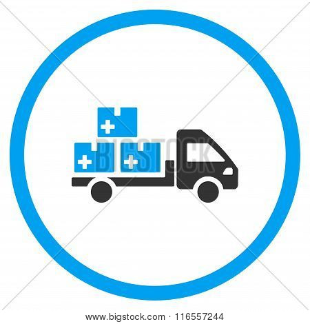 Medication Delivery Rounded Icon