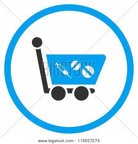 Medication Shopping Cart Rounded Icon