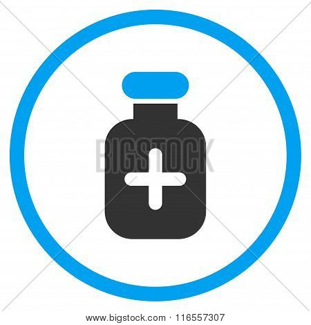 Medication Vial Rounded Icon