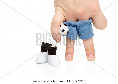 Football Player With Ball Under Arm