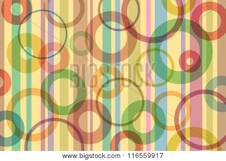 A Retro Abstract Background with Stripes and Circles
