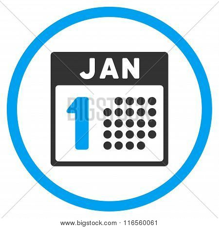 January First Rounded Icon