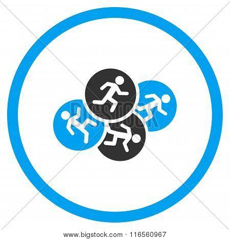 Running Men Circled Icon