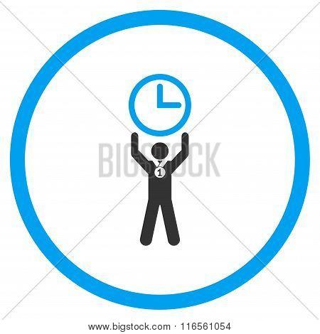 Time Champion Circled Icon