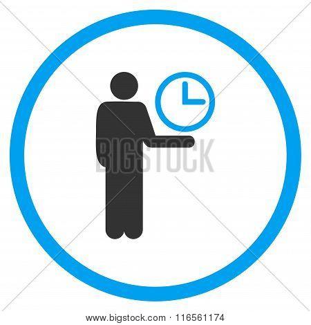 Waiter Circled Icon