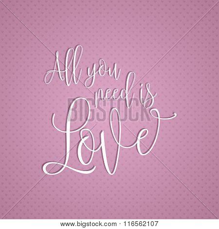 Decorative text design for Valentine's Day