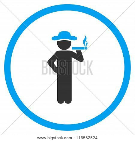 Smoking Boy Circled Icon