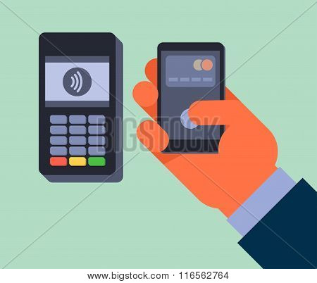 Contactless payment.