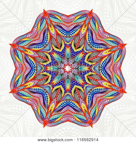 Abstract round lace pattern. Mandala. Round Ornament. Vector illustration, EPS10