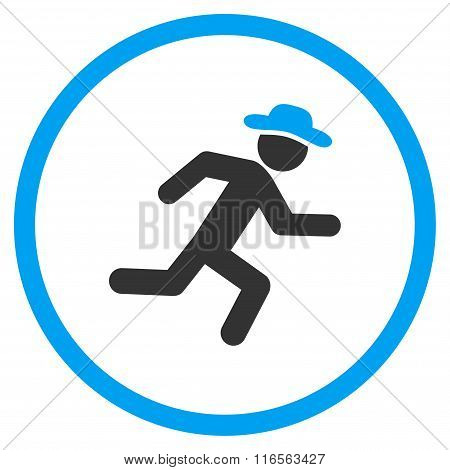 Running Human Figure Rounded Icon