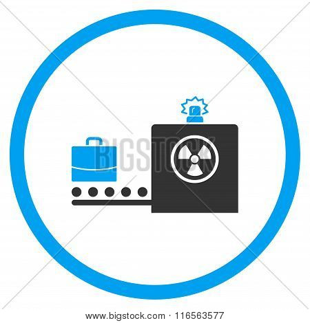 Baggage Screening Rounded Icon