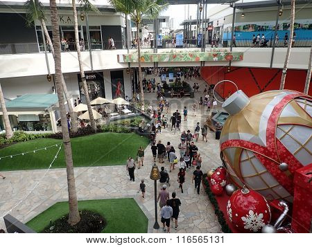 Crowd Of People Around Mall New Wing Of Mall On Black Friday