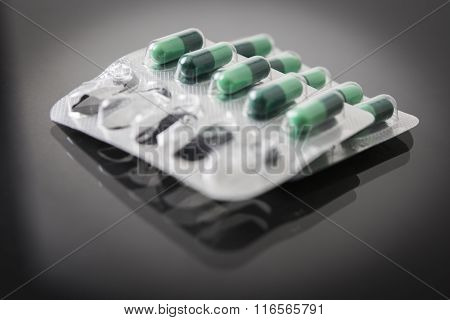 Packing Of Green Capsules