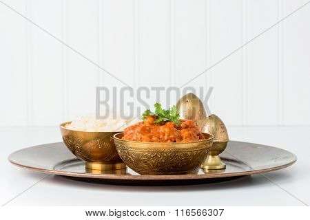 Chana Masala And Rice