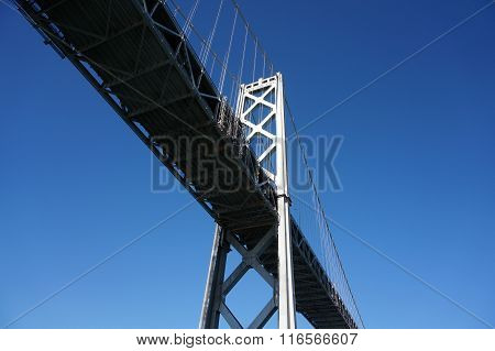 San Francisco Bay Bridge Close Up From Underneath