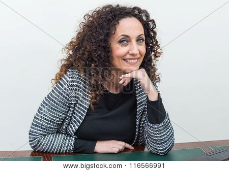 Portrait Of Mature Woman.