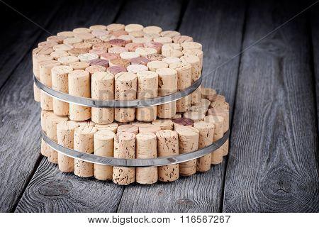 Diy homemade cork protector from hot pots