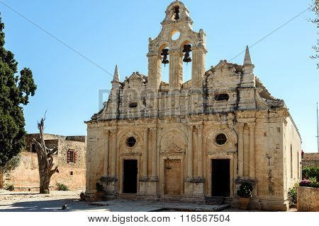 Arkadi monastery on Crete island, Greece