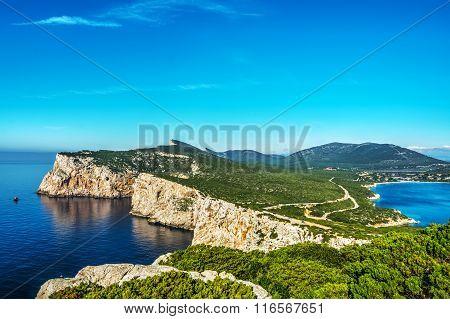Capo Caccia Landscape On A Clear Day