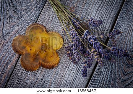 Natural diy soap with lavender