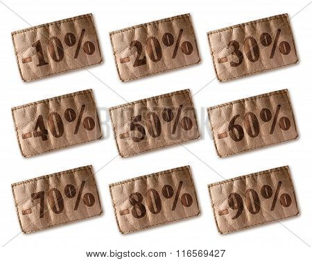 Leather Tag With Discounts Set