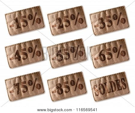 Leather Tag With Discounts Soldes Set