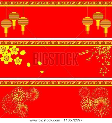 Vector Set Of Chinese Background