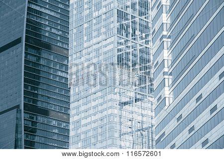 Office Buildings Walls.