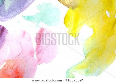 Watercolor Abstract. Multicoloured.