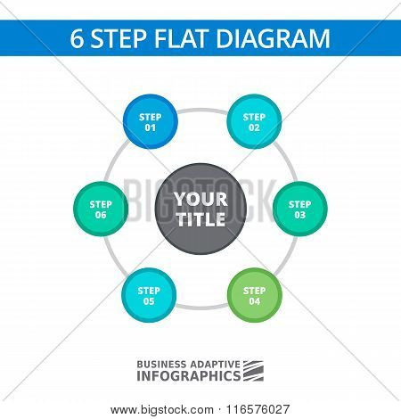 Six Step Diagram Template