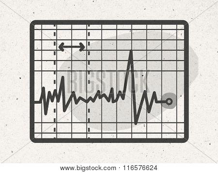 cartoon electrocardiogram