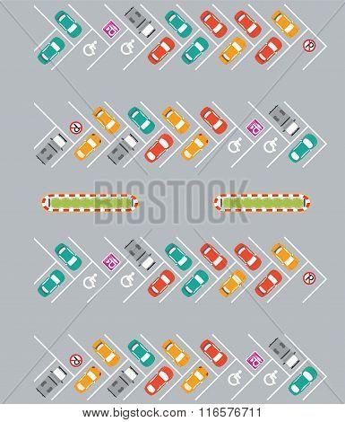 Parking Zone Conceptual Vector Illustration.
