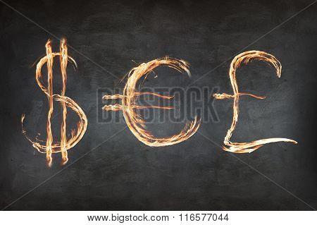 Set of symbols fire