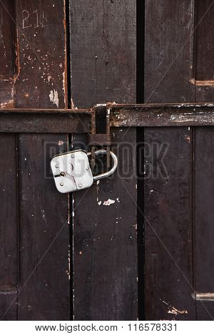 Closed Up The Local Master Key On Wood Wall In Nepal