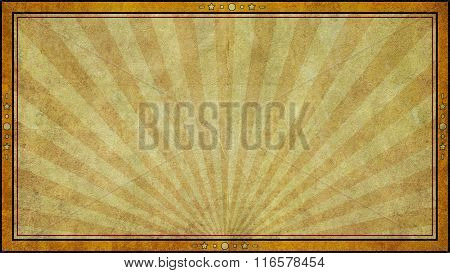 Retro Aged Paper Background Frame In Widescreen Format