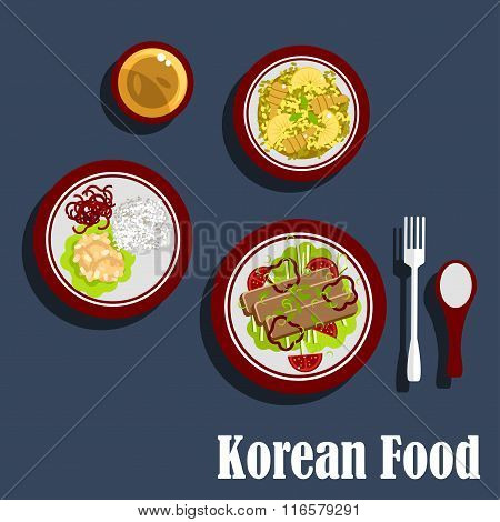 Traditional dishes of korean cuisine
