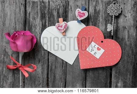 Valentine's Day Decoration And Vintage Background