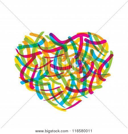 abstract valentine heart design