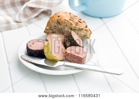 meat pate with different flavors on white table