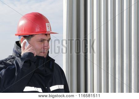 Engineer  Make Call In Power Plant