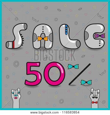 Inscription Sale. Vector Illustration