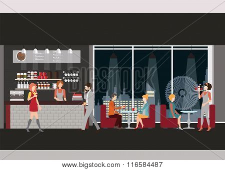 Info Graphic Of Coffee Shop .
