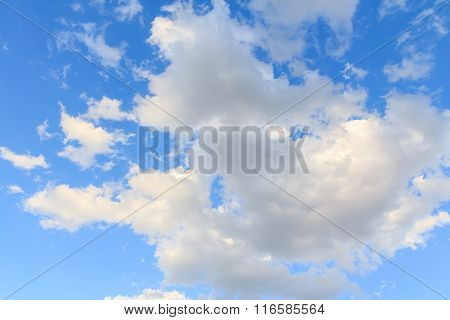 Land scape of Clouds with blue sky